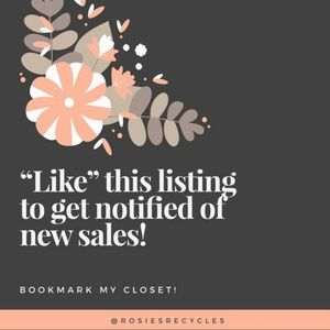 Like this listing to get notified of future sales!